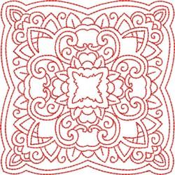 Redwork Block Pattern embroidery design