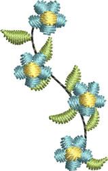 Miniature Floral Spray embroidery design