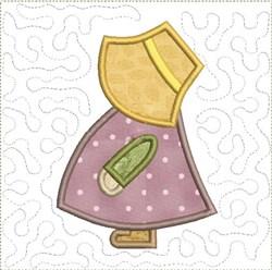 Classic Sun Bonnet Sue Quilt Block embroidery design