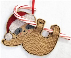 ITH Sloth Candy Cane Holder 4 embroidery design