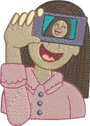 Selfie 5 embroidery design