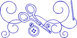Sewing Scissors embroidery design