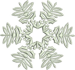 Star-Shaped Snowflake embroidery design