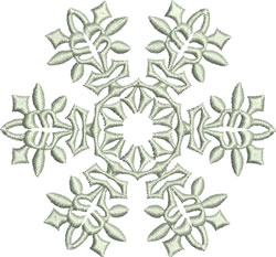 Unique Snowflake embroidery design
