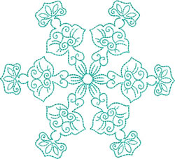 Ethereal Snowflake embroidery design