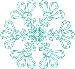 Gauzy Snowflake embroidery design