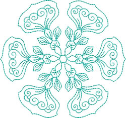 Graceful Snowflake embroidery design