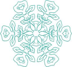 Delicate Snowflake embroidery design