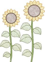 Sunflower Light Fill embroidery design