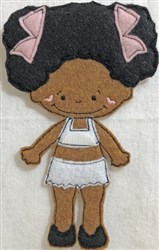 Small Felt Paper Doll 1 embroidery design