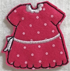 Dress 8 for Small Felt Paperdoll embroidery design