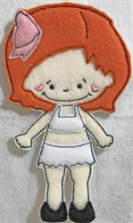 Small Felt Paper Doll 3 embroidery design