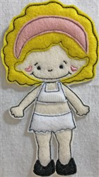 Small Felt Paper Doll 4 embroidery design