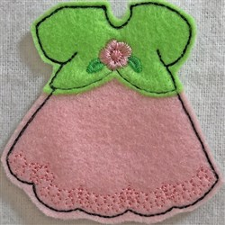Dress 1 for Small Felt Paperdoll embroidery design