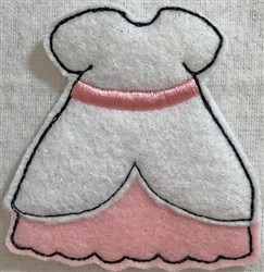 Dress 2 for Small Felt Paperdoll embroidery design