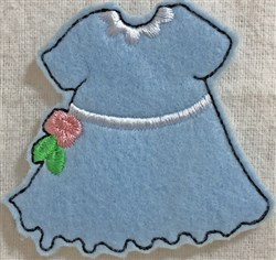Dress 4 for Small Felt Paperdoll embroidery design
