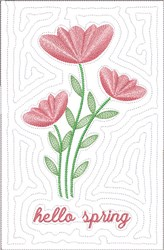 Hello Spring Wall Hanging embroidery design