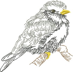 Sketched Chickadee embroidery design