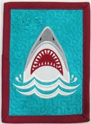 Shark 1 Mug Rug embroidery design