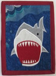 Shark 3 Mug Rug embroidery design