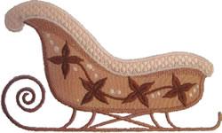 Lt Rust Sleigh Applique embroidery design