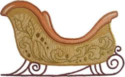 Gold Sleigh Applique embroidery design