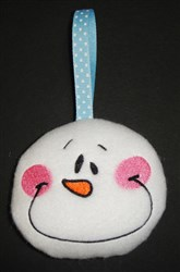 ITH Snowman Silly Face Ornament embroidery design
