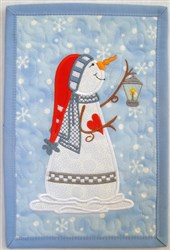 Snow People Mini Quilt 1 embroidery design