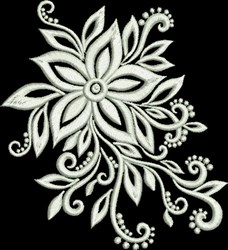 Sophisticated Floral embroidery design