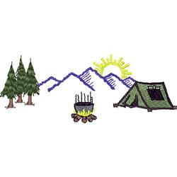 Camping Scene embroidery design