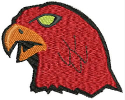 Hawk Mascot embroidery design