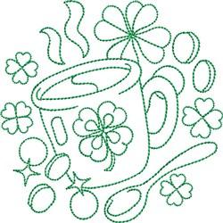 St Patricks Irish Coffee embroidery design