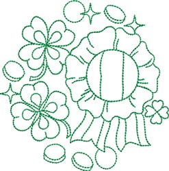 St Patricks Greenwork embroidery design