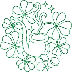 St Patricks Pipe embroidery design