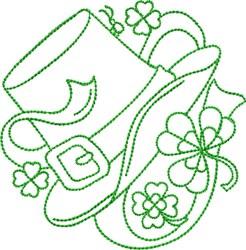 St Patricks Hat embroidery design
