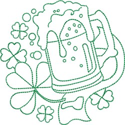 St Patricks Green Beer embroidery design