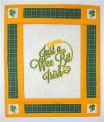 Saint Patricks Day Mini Quilt embroidery design