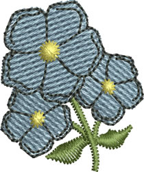 Accent Flowers embroidery design