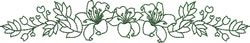 Horizontal Lily Spray embroidery design