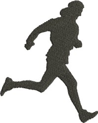 Runner Silhouette embroidery design