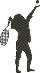 Tennis Silhouette embroidery design