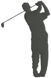 Golf Silhouette embroidery design