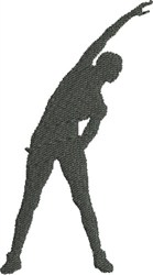 Fitness Silhouette embroidery design
