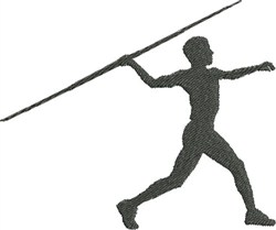 Javelin Throw Silhouette embroidery design
