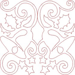 Christmas Bells Quilt Block embroidery design
