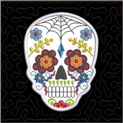 ITH Sugar Skull Quilt Block 4 embroidery design