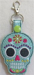 ITH Sugar Skull Key Fob 1 embroidery design