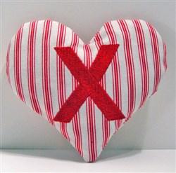 Stuffed Heart X embroidery design