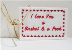 Love You Tag embroidery design