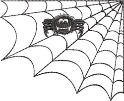 Spider Web & Spider 2 embroidery design